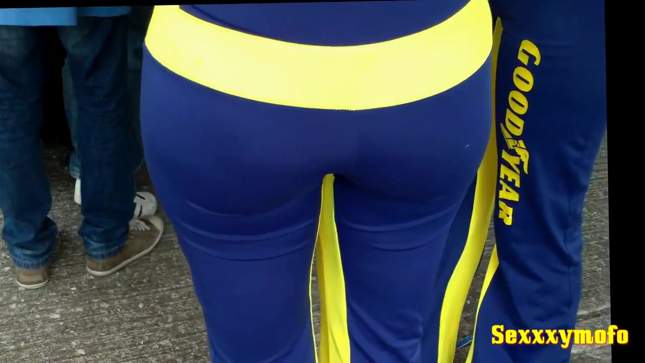 Sexy girls on the race track in this racing voyeur video