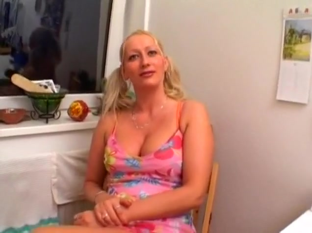 Busty Blonde Babe Gets Help While Masturbating