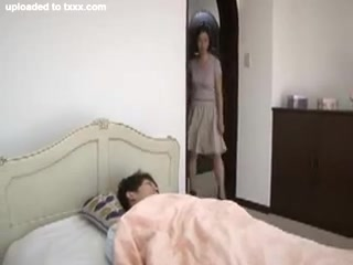 Japanese Mother Is Caught By Boy