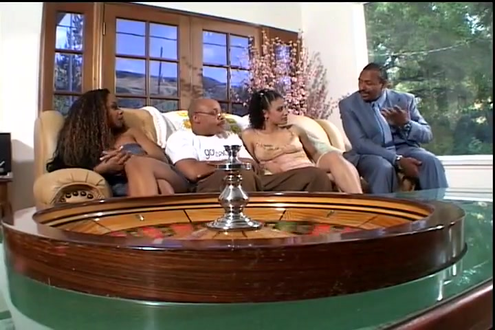 Big Ebony Double Penetrated Threesome