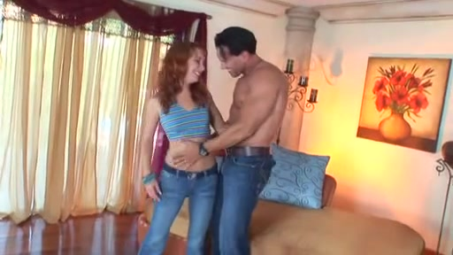 Fascinating Youthful Redhead Receives Drilled By Latin Paramour