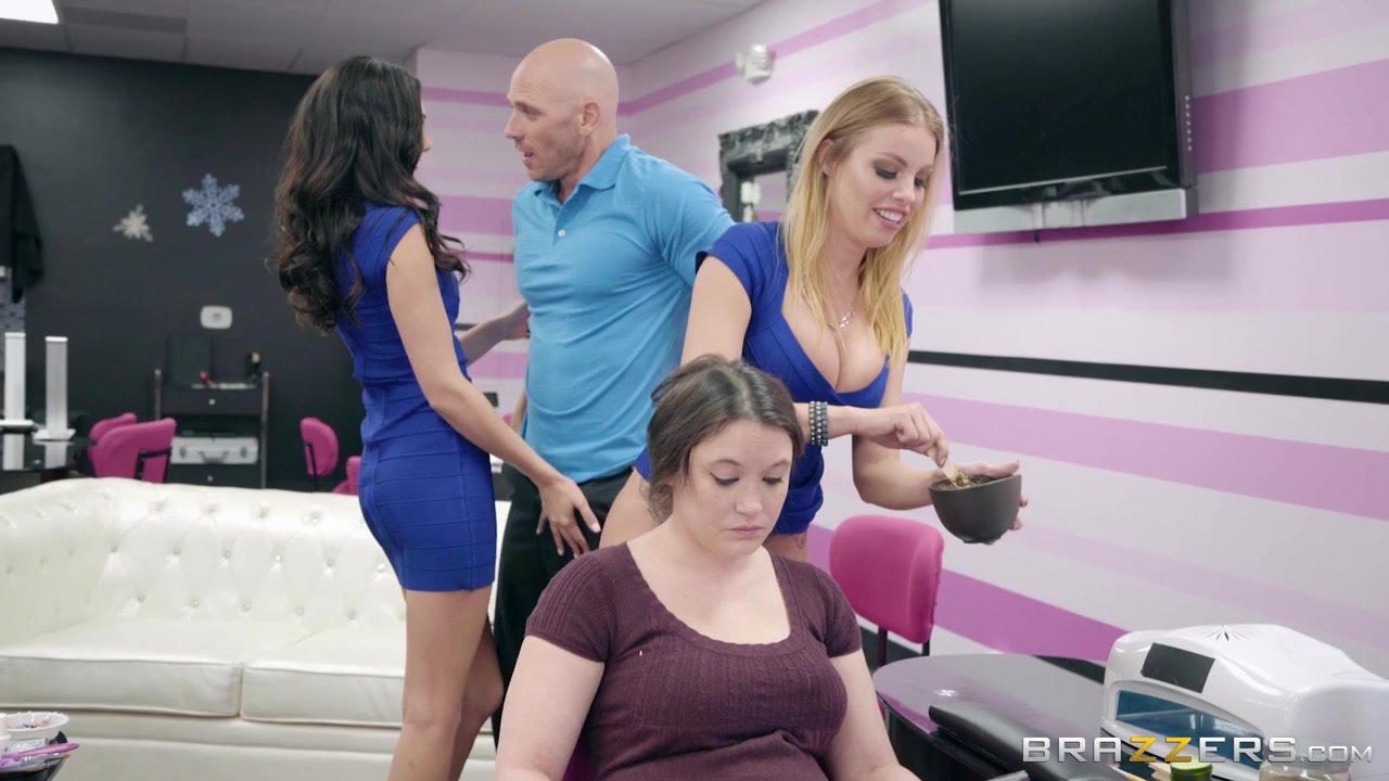 Ariana Marie & Britney Amber & Johnny Sins In Their Own Facials - Brazzers