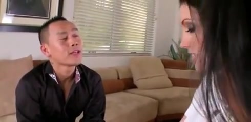 Asian Couple With Their Neighbors