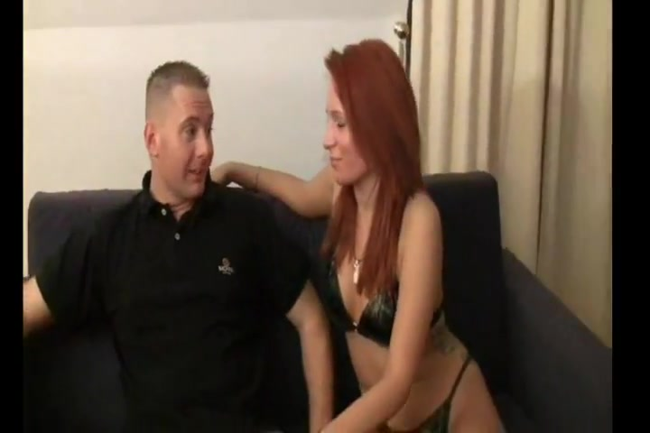 Redhead In Boots Gets Fucked On The Couch And The Floor