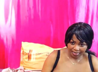 Gaby Ebony Breast Dildo Tits Fuck