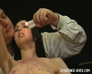 Breasty slavegirl Emilys extraordinary s&m and whipping agony