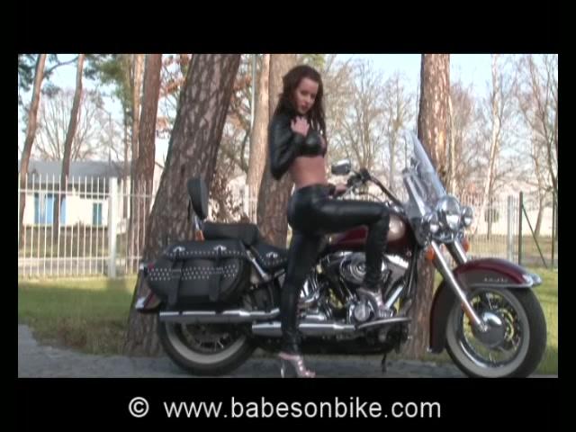 Honey loves moving on bike