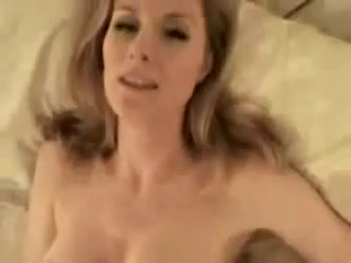 hot blonde big tits giving a good handjob until cum