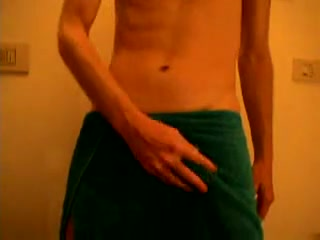 Hot masturbation after shower