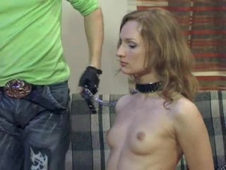 Submissive Russian babe enjoys BDSM torture