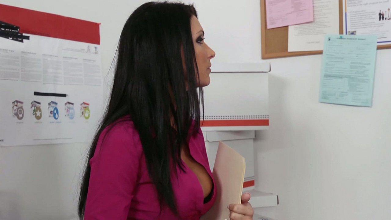 Hot Jessica fucking at work