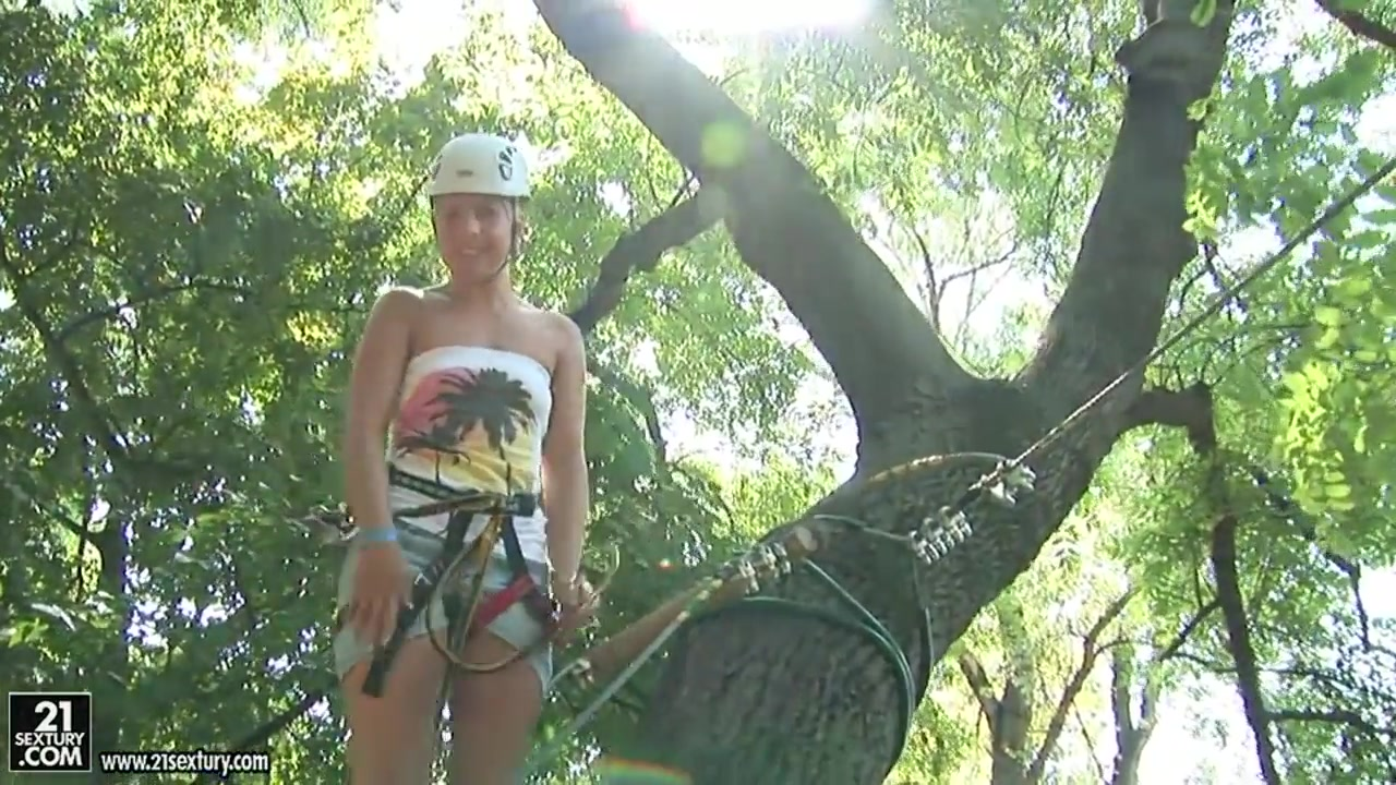 sexy blonde with big ass brandy smile enjoys extreme sports outdoors
