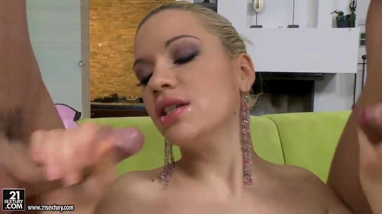 beautiful blonde bibi noel pleasures two cocks