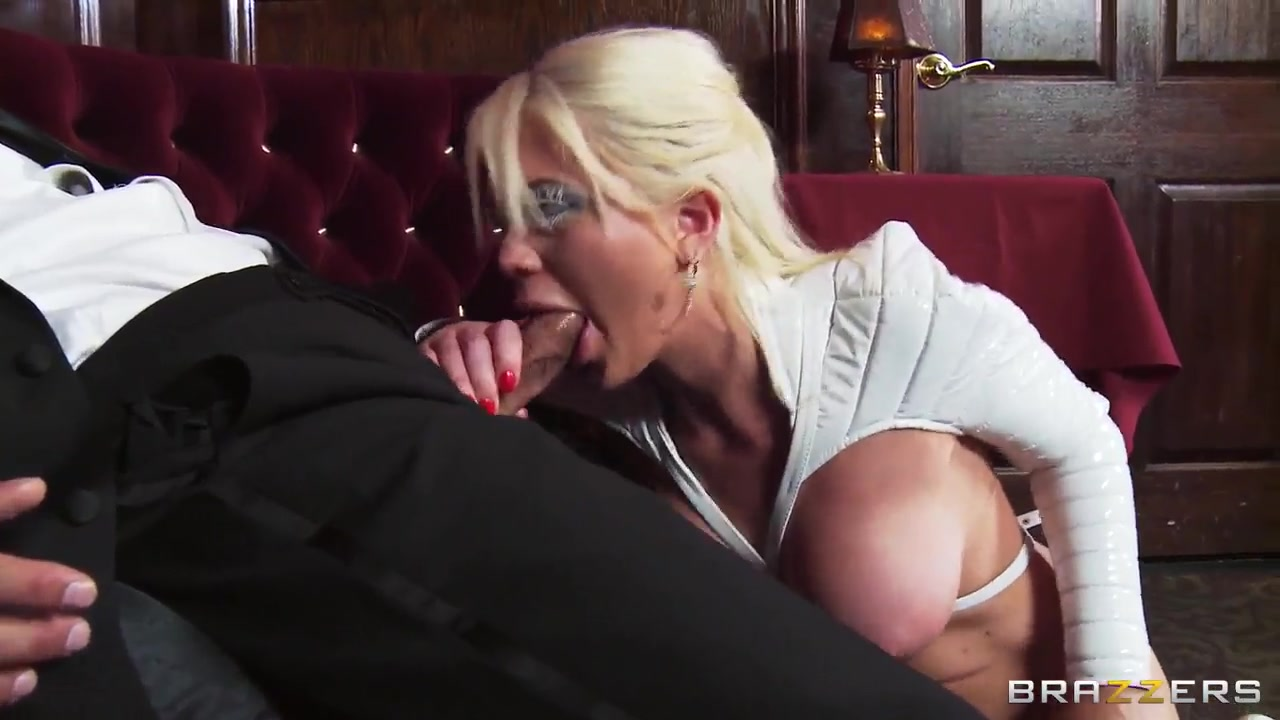 alexis ford masturbates a cock with her tits