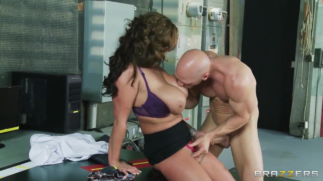 eva notty television presenter makes johnny sins wild with her huge breasts in the workplace