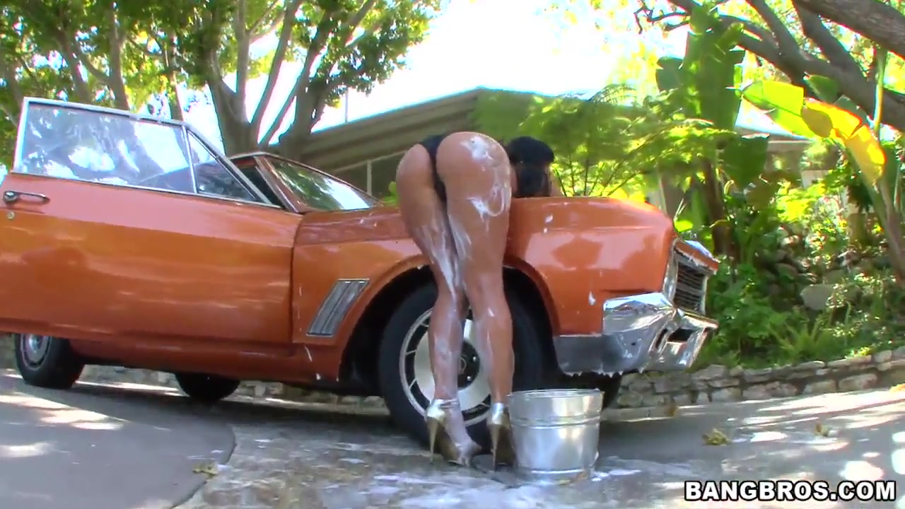 phoenix marie cleans her tits and but instead of the car