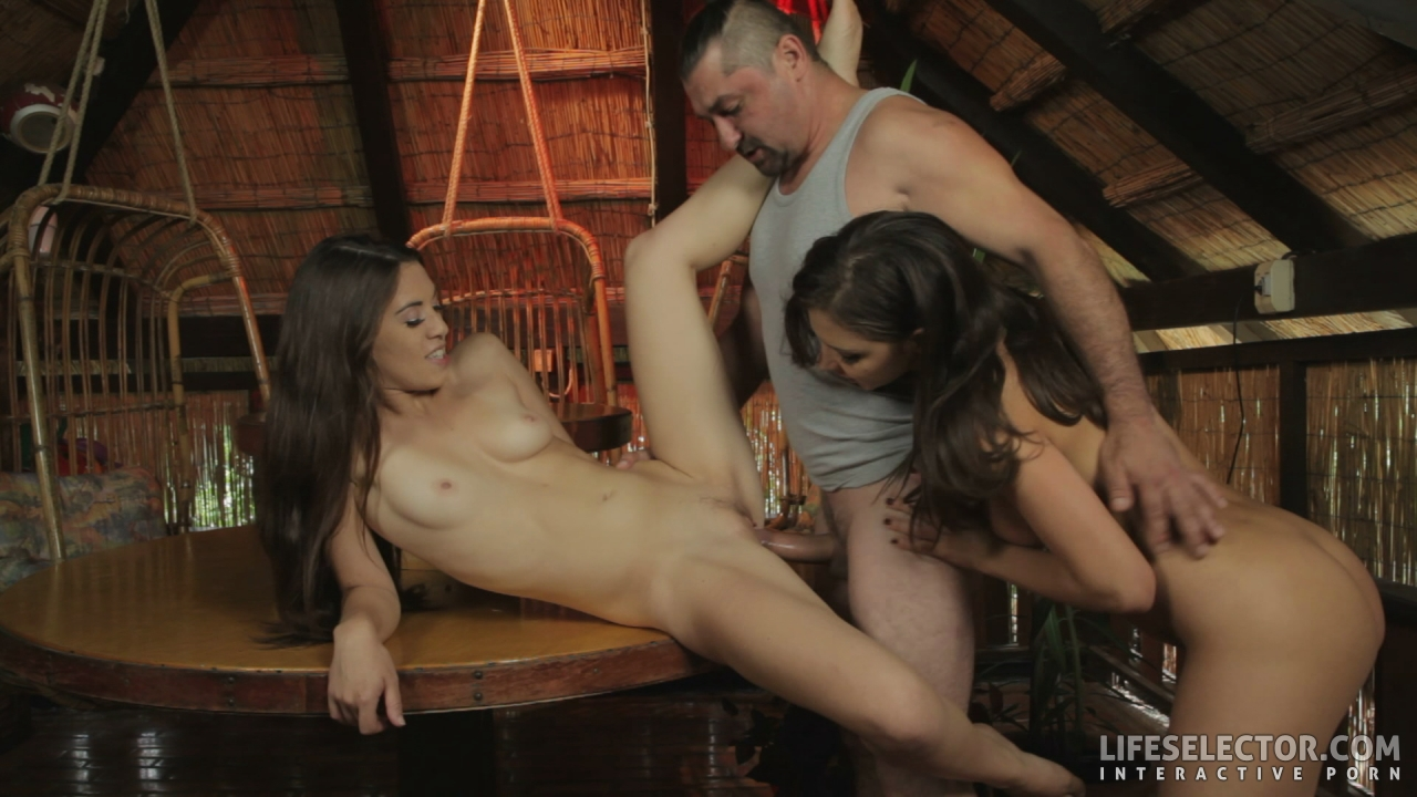Trespasser being punished by hot young women