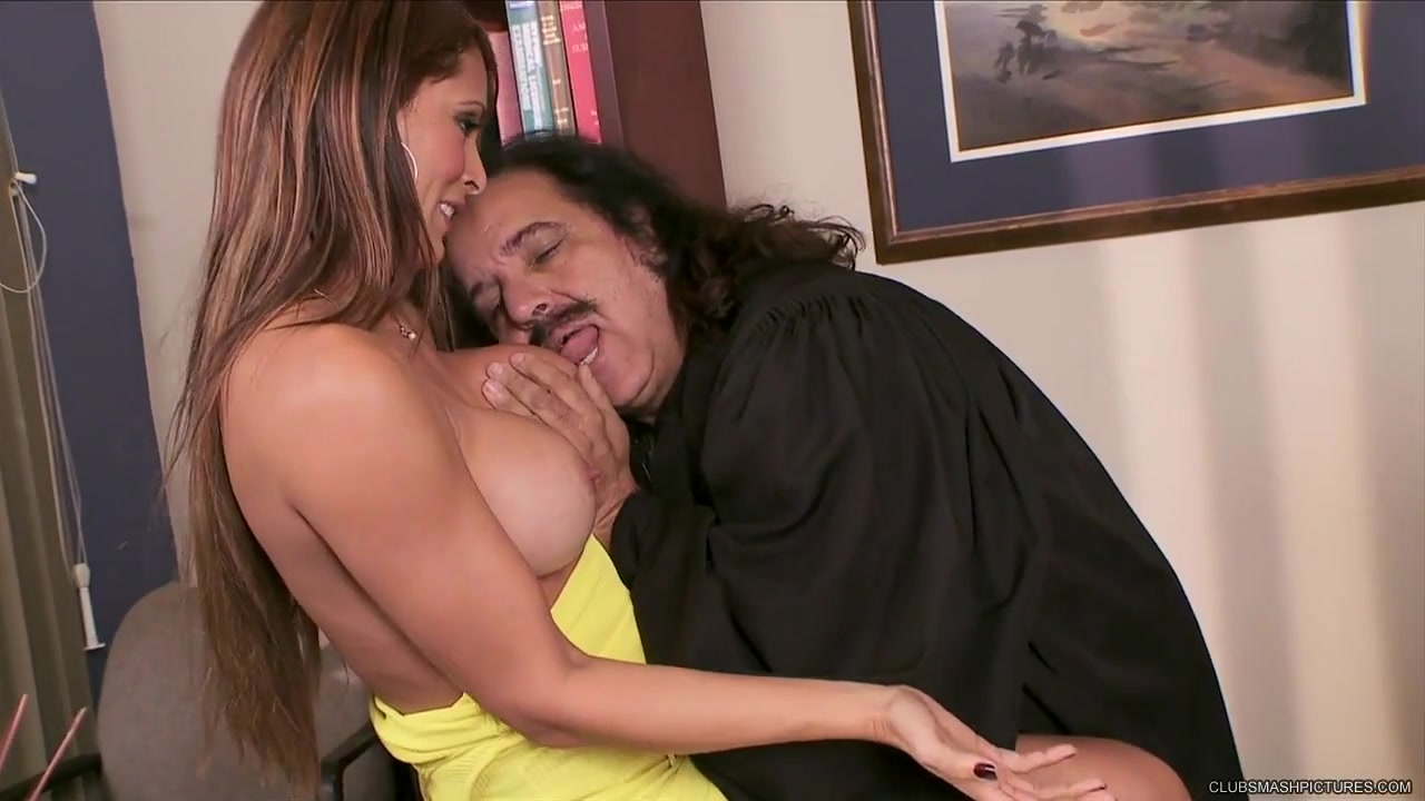 monique fuentes wraps his wet lips around ron jeremy