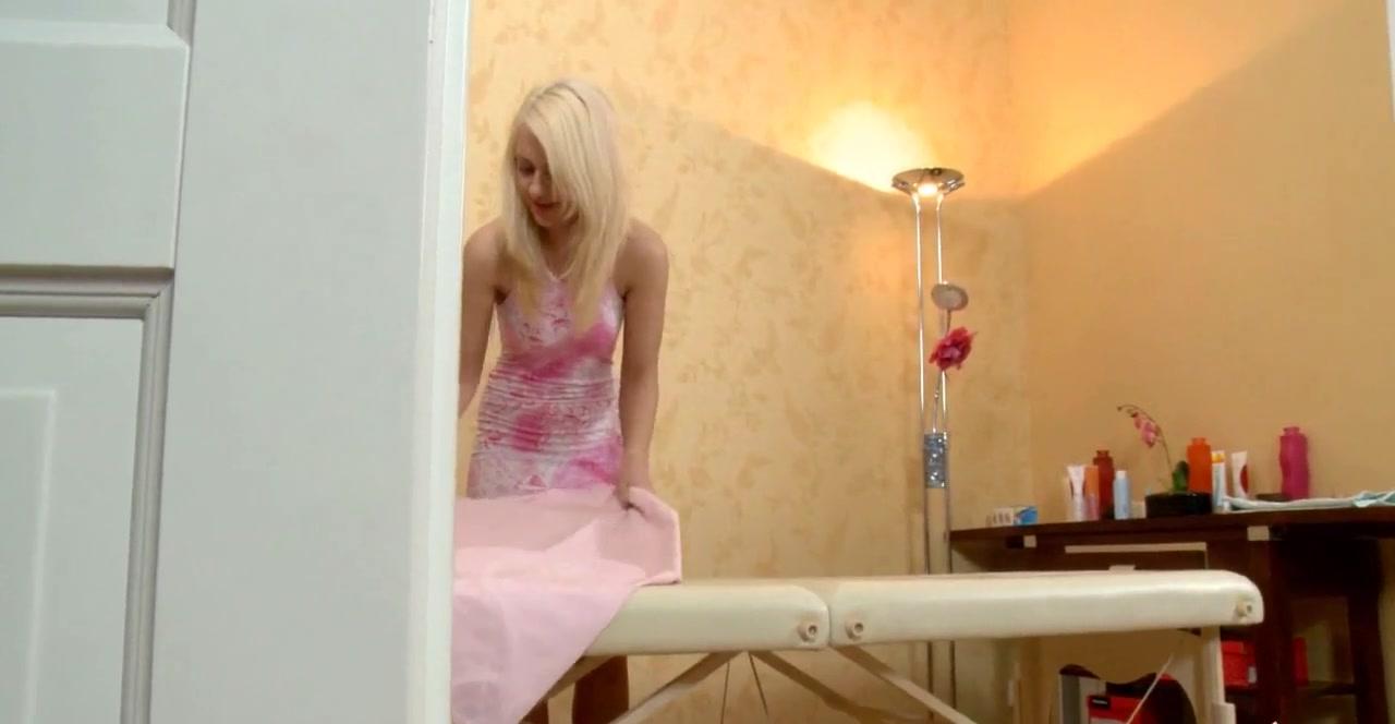 blonde slut gets more than a massage