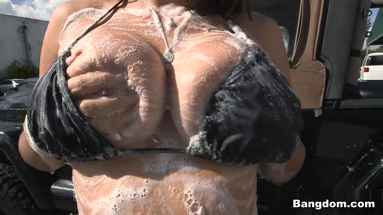 tiffany wells in the big tit wash! hell yes! video