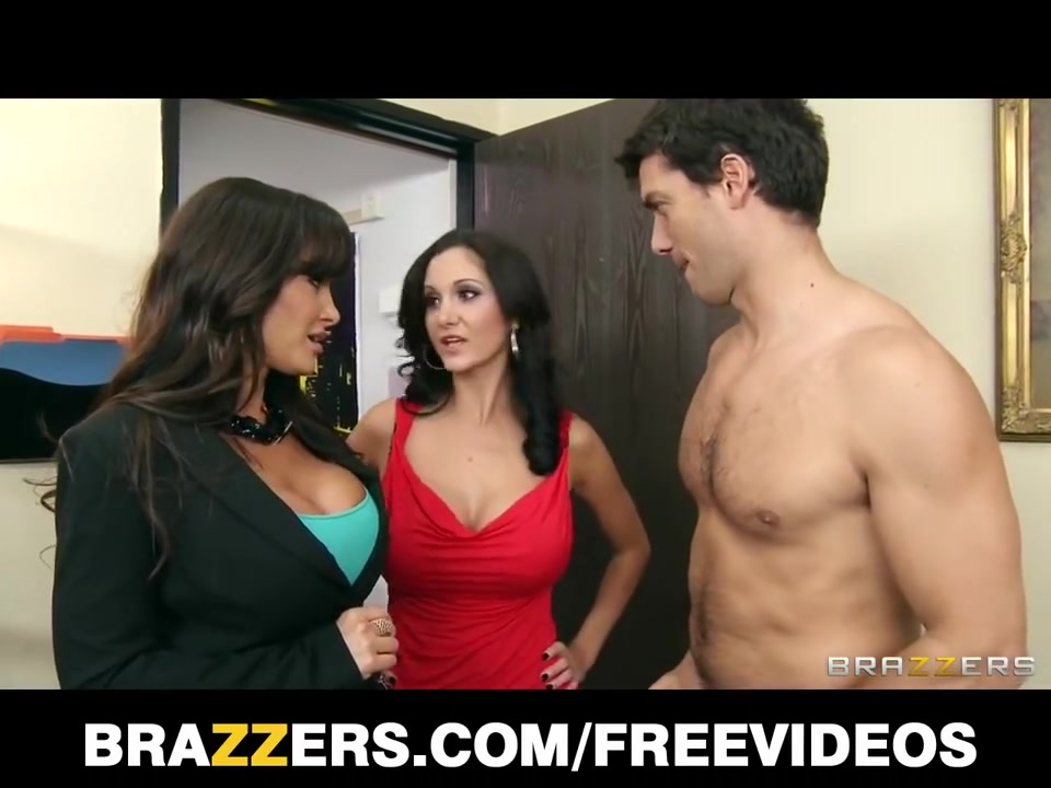 Large-tit dark brown mother Id like to fuck Lisa Ann shares large-penis with Ava Adda