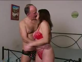 Young Woman With Father-In-Law Alone At Home